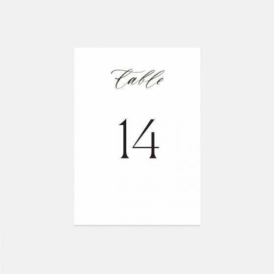 Hand-Lettering Table Numbers