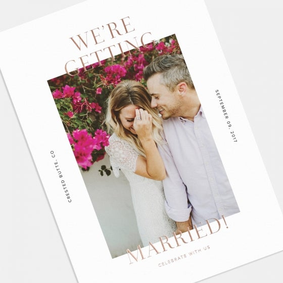 Getting Married Photo Card with Foil