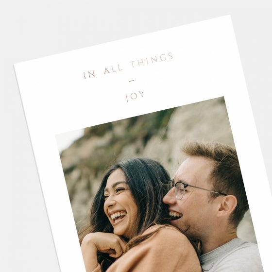 In All Things Joy Card with Foil