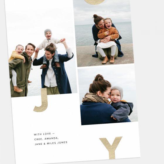 Joy Multi-Image Holiday Card