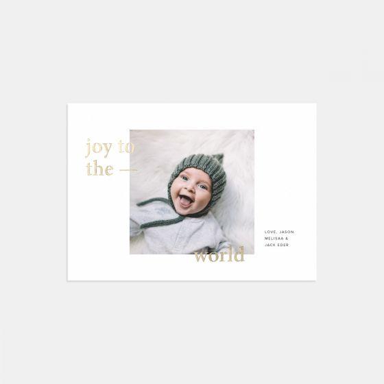 Joy to the World Holiday Card