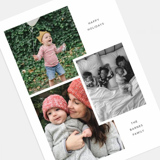 Layered Multi-Image Holiday Card
