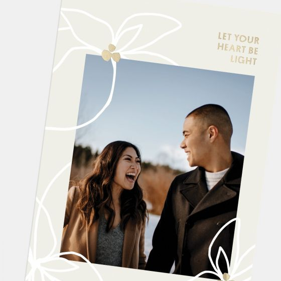 Layered Florals Holiday Card