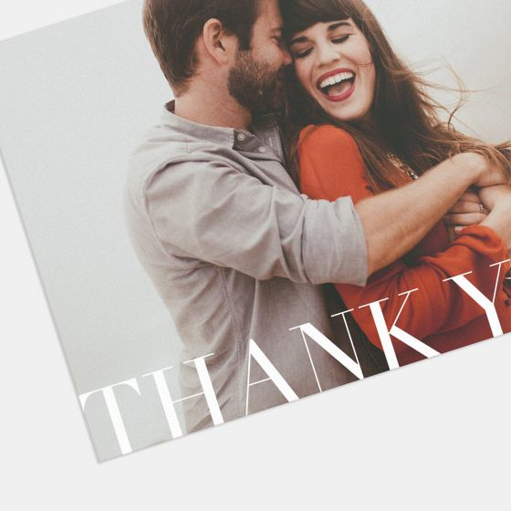 Classic Thank You Card (Horizontal)