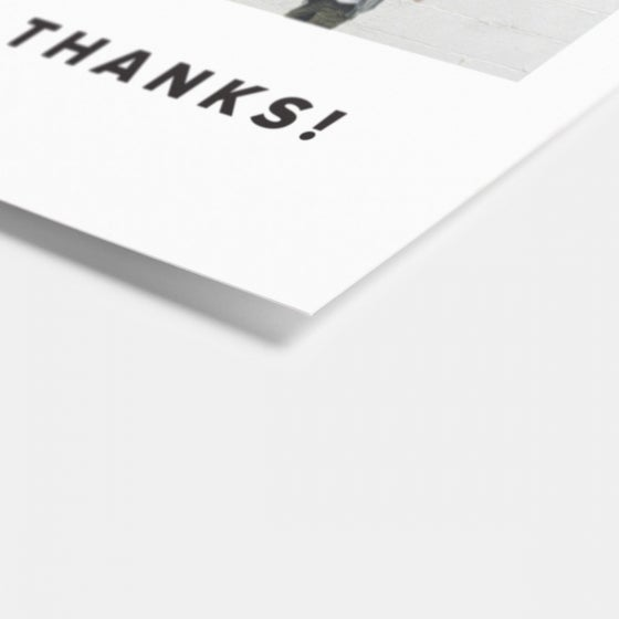 Bold Thank You Card
