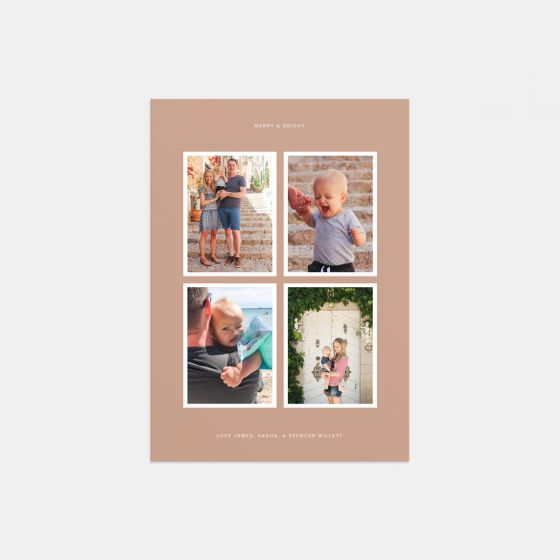 Merry & Bright 4-Image Card
