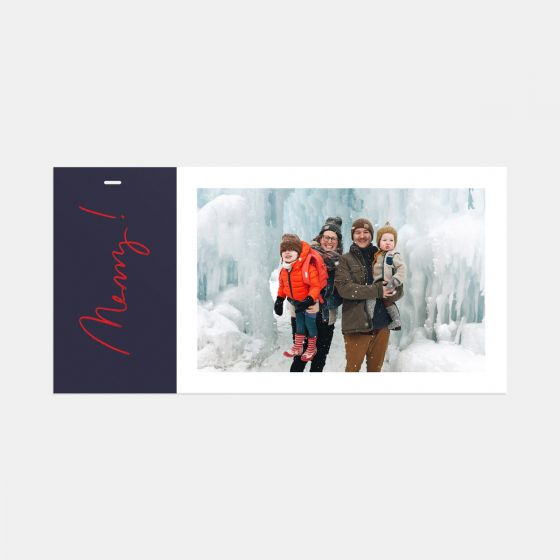 Merry! Holiday Card & Gift Tag