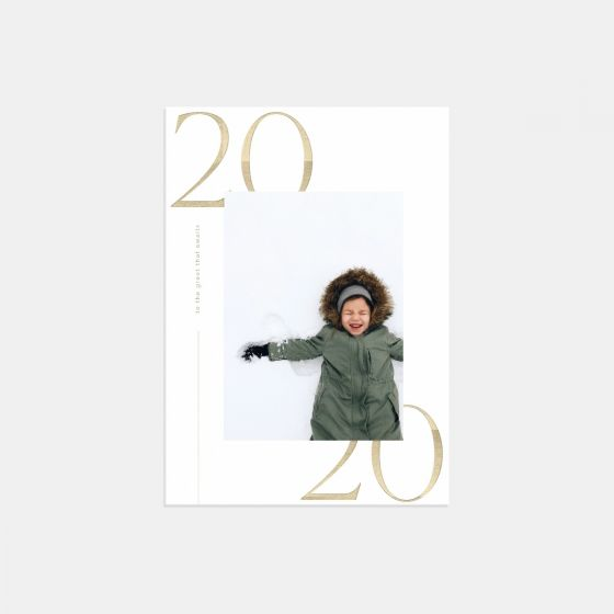 Modern 2020 New Year Card