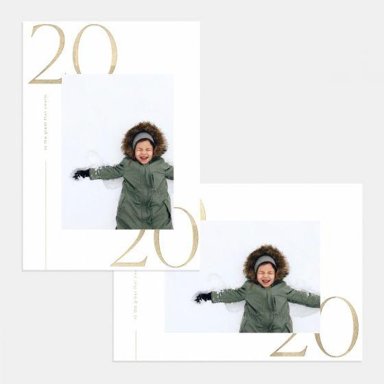Modern 2020 New Year Card
