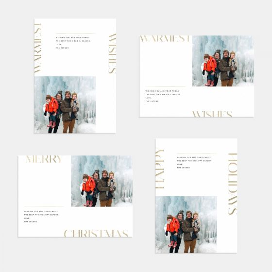 Modern Letters Holiday Card
