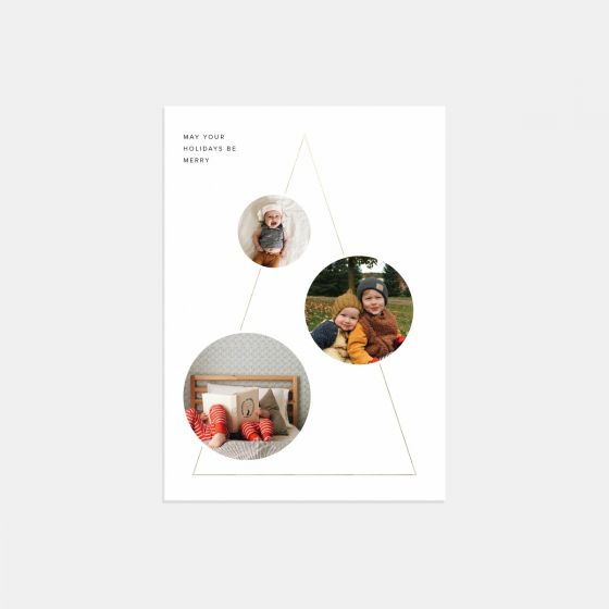 Modern Shapes Holiday Card