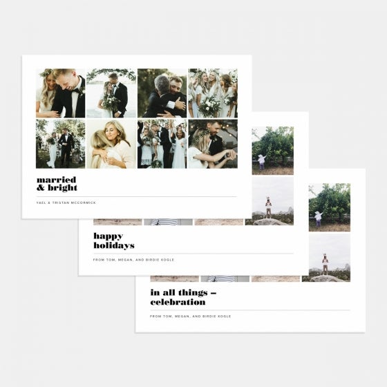 Multi-Image Grid Holiday Card