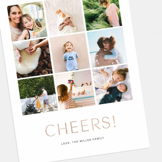 Multi-Image Vertical Holiday Card