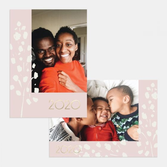 Organic Florals Holiday Card