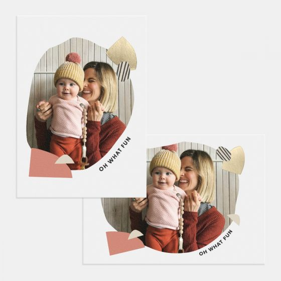 Playful Shapes Holiday Card