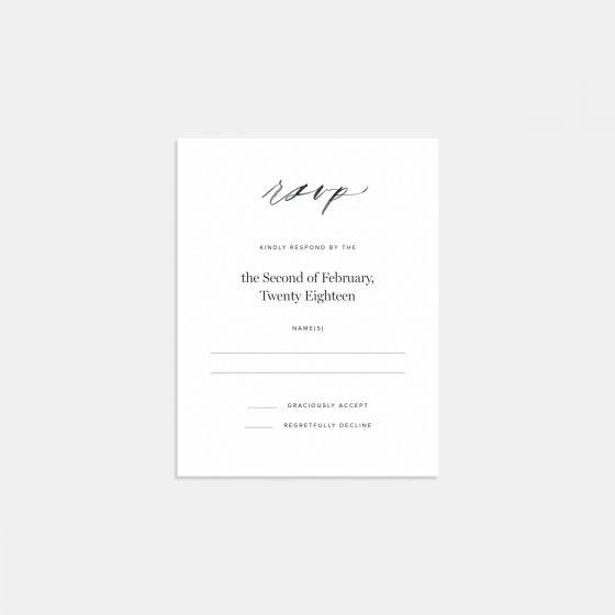 Wedding Invitation Rsvp Card: Hand-Lettered RSVP Card