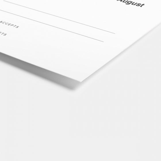Bold Response Card