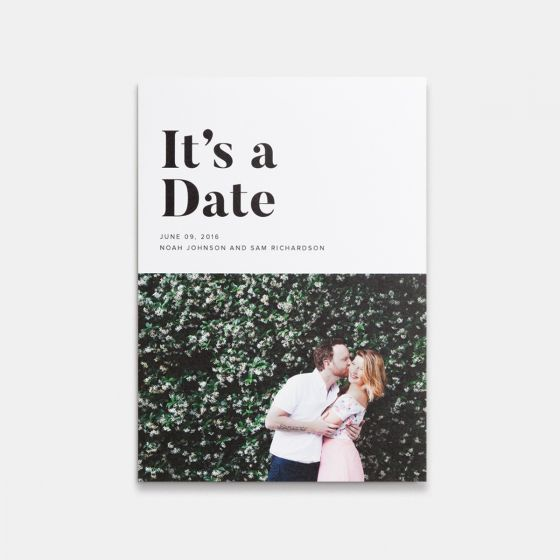 It's A Date Photo Card