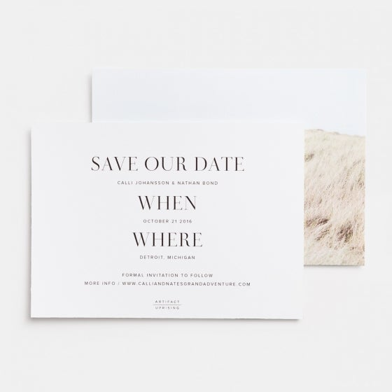 Save The Date Photo Card (Horizontal)