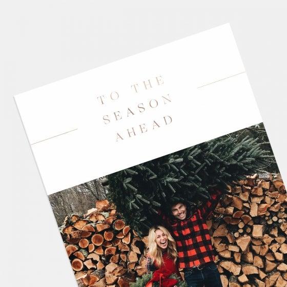 Season Ahead Holiday Card with Foil