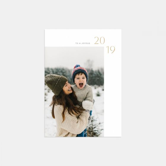 Simple 2019 New Year Card