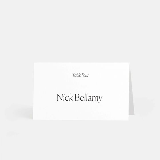 Simple Serif Escort Cards