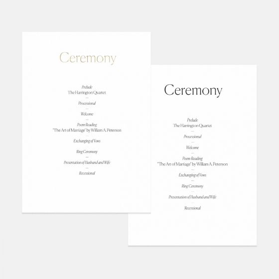 Simple Serif Day-Of Details Card