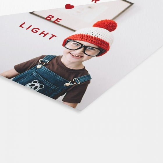 Square Heart Be Light Card