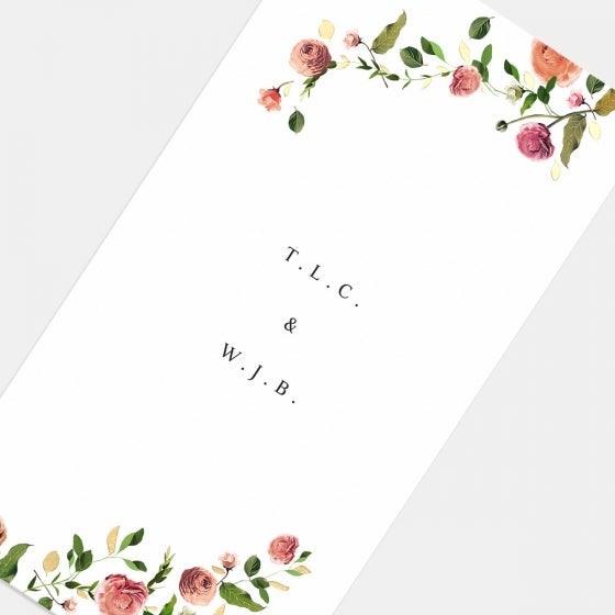 Foil-Stamped Venamour Botanical Wedding Invitation