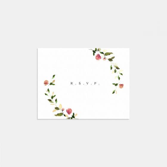 Venamour Botanical RSVP Card with Foil
