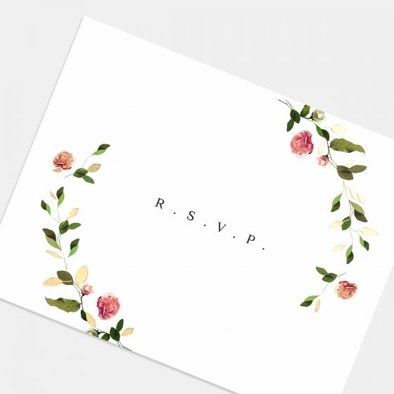 Venamour Botanical RSVP Card with Foil