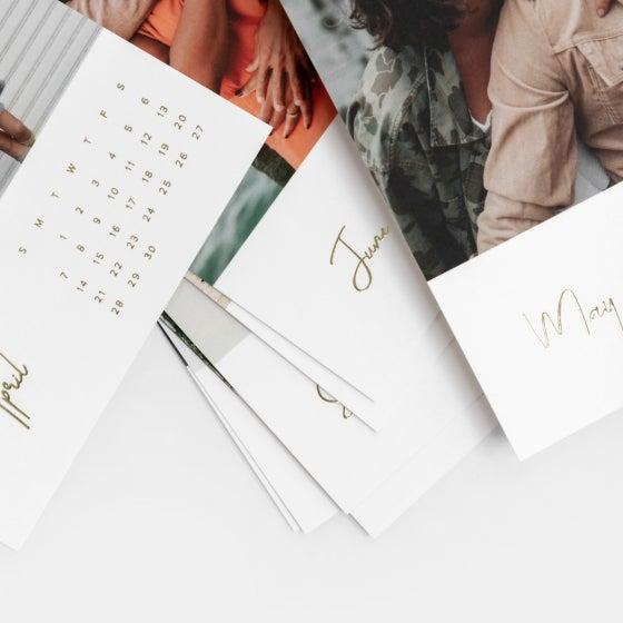 Walnut Desktop Photo Calendar