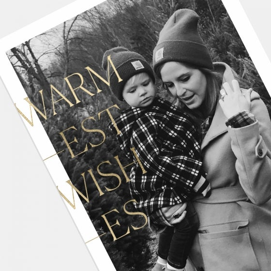 Warmest Wishes Holiday Card with Foil