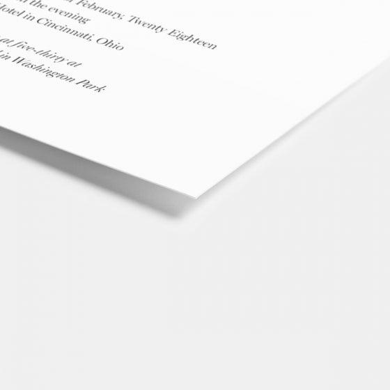 Foil-Stamped In Celebration Wedding Invitation