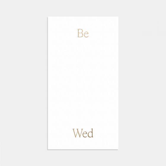 Letterpress Simple Serif Wedding Invitation