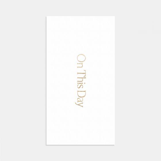 Letterpress Simple Serif Save the Date