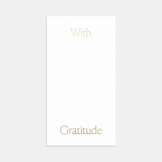 Letterpress Simple Serif Thank You Card
