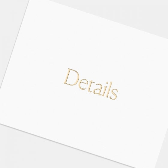 Letterpress Simple Serif Enclosure Card