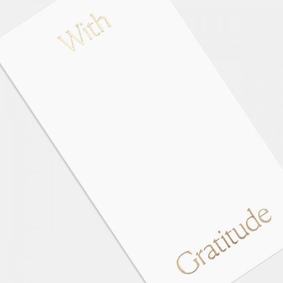 Letterpress Simple Serif Thank You Card