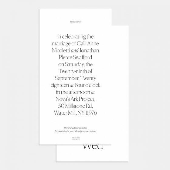Simple Serif Wedding Invitation