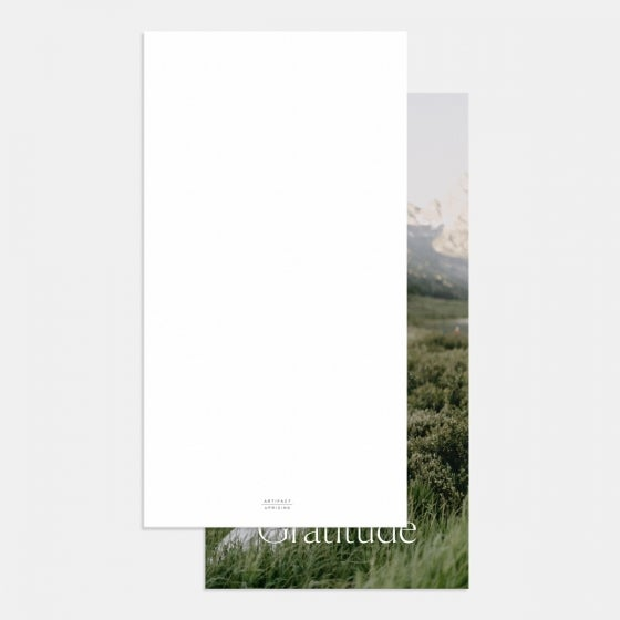 Simple Serif Thank You Card