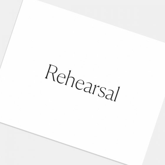 Simple Serif Enclosure Card