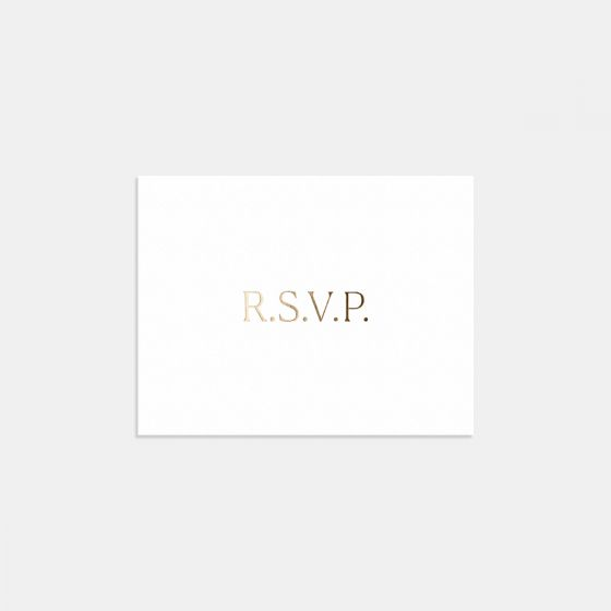 Foil-Stamped Simple Serif RSVP Card