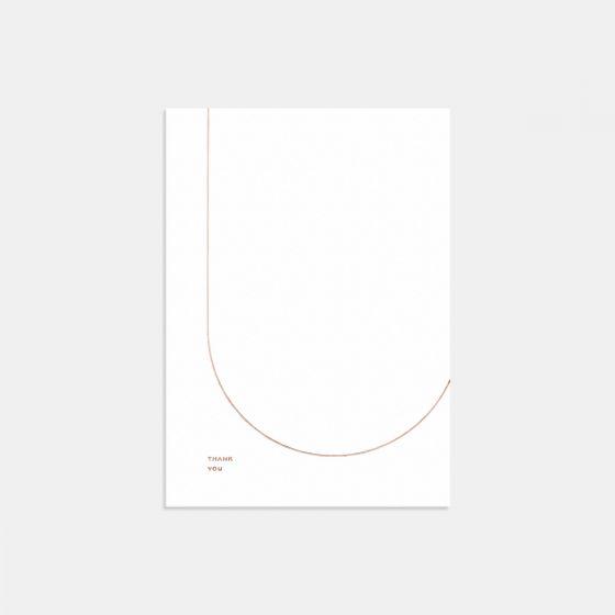 Letterpress Geometric Thank You Card