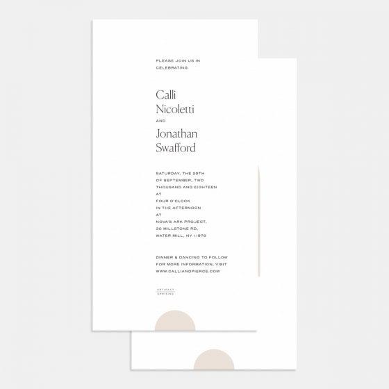 Foil-Stamped Geometric Wedding Invitation