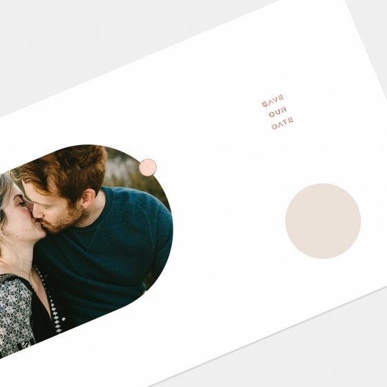 Foil-Stamped Geometric Save the Date