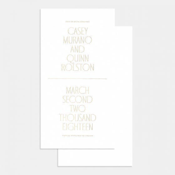Letterpress Minimal Save the Date