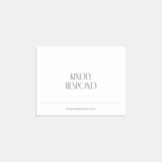 Minimal RSVP Card