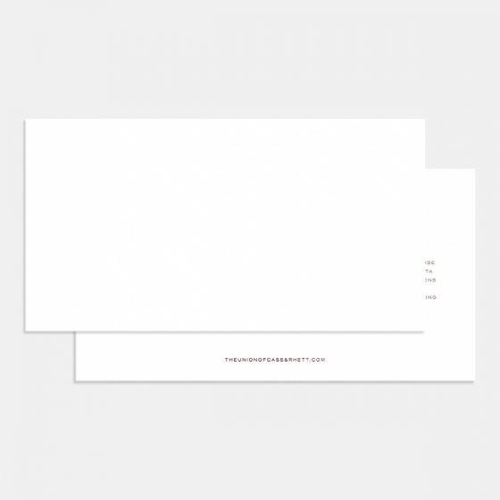 Letterpress Contemporary Classic Wedding Invitation