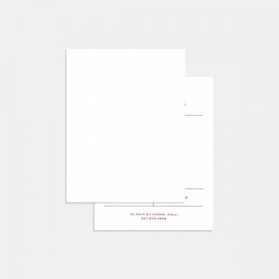 Letterpress Contemporary Classic RSVP Card